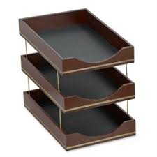 desk accessories for men. Simple Men Double Line Leather Triple Legal Tray  To Desk Accessories For Men C