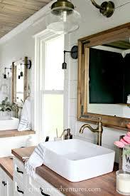 DIY wood framed bathroom mirror Christinas Adventures