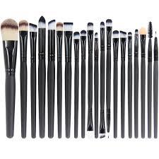 emaxdesign 20 pieces makeup brush set professional face eye shadow eyeliner foundation blush lip makeup brushes