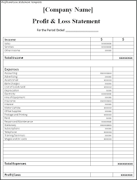 Simple Profit And Loss Statements Basic Profit And Loss Statement Template Profit Loss Statement Excel
