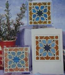 One Tile Design In Three Variations Cross Stitch Chart