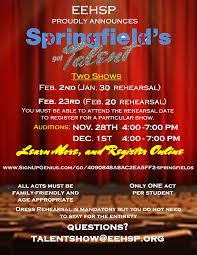 Talent Show Flyer Springfield's Got Talent Register For The Talent Show Enfield 5