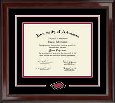 university of arkansas diploma frames church hill classics university of arkansas diploma frame spirit medallion diploma frame in encore