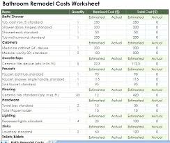 bathroom remodeling estimate. bathroom renovation quote template brilliant remodel estimate resume terbaik remodeling u