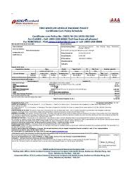 file vehicle insurance certificate in india pdf