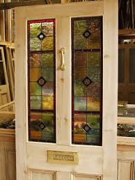 stained glass reclaimed victorian front door