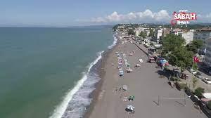 Selin izlerinin silindiği Akçakoca plajları havadan görüntülendi videosunu  izle | Son