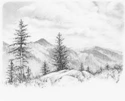 landscape drawings in pencil hd pencil drawing pictures of nature hq pencil drawing
