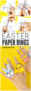 Crayon Rings Printable Easter Paper Rings For Kids Easter Craft Template Easter