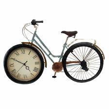 dels about vine metal table desk clock bicycle designed for decorating home as a gift