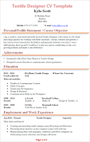 My Resume Template Best Textile Designer CV Template Tips And Download CV Plaza
