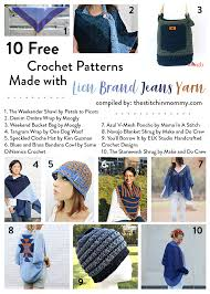 Lion Brand Free Crochet Patterns Cool 48 Free Crochet Patterns Made With Lion Brand Jeans Yarn The