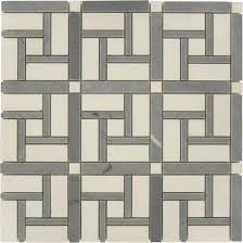 windmill polished white thassos and bardiglio marble stone tile