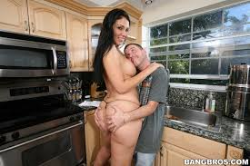 Shaved Brunette Madison Rose with Big Ass from BangBros in Kitchen.