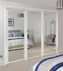 image mirrored sliding. The Shaker Panel \u0026 Mirror Wardrobe Door White Is A Versatile That Suits Variety Of Interiors. And Doors Can Be Used Image Mirrored Sliding