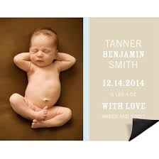 Birth Announcement Magnets Custom Designs From Pear Tree