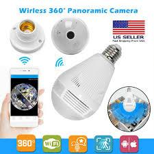 Ebay Light Bulb Camera Hd 1080p 360 Panoramic Hidden Wifi Ip Camera Light Bulb Home Security Lamp Cam