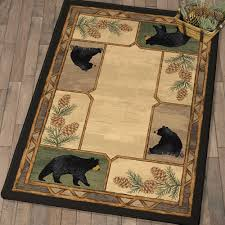 bear paw print rugs best of rustic wildlife rugs including moose and bear rugs black forest