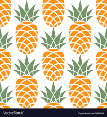 Pineapple Pattern Best Pineapple Pattern Royalty Free Vector Image VectorStock