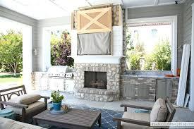 barn door cover tv cabinet over fireplace all best industrial