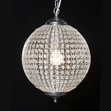 stylish round globe chandelier chrome and glass beaded globe chandelier round ball shape