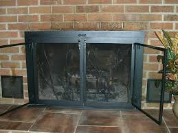 replacing fireplace glass image of fireplace screens with doors style heatilator fireplace replacement glass doors
