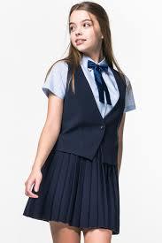 Купить <b>жилет</b> для девочки 90434_OLG цвета синий за 599 руб. в ...
