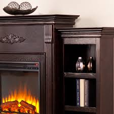 dublin 70 inch espresso electric fireplace