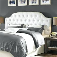 white tufted leather headboard off white leather tufted headboard living  living lyric button tufted faux leather