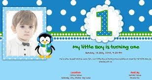 1st birthday invitation 54 on card template