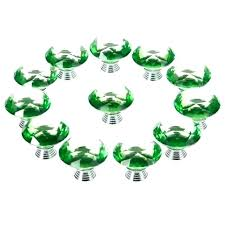 diamond door knobs green glass crystal kitchen cabinet drawer furniture handles pulls milk d large with