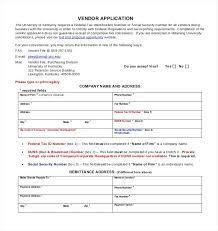 Vendor Application Form Template Clergy Coalition Vendor