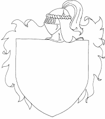 Shield Coloring Page Many Interesting Cliparts