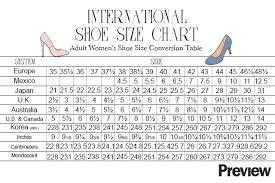 Size Chart Shoes Women S International Your Ultimate Guide To International Shoe Sizes