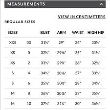 Whbm Size Charts