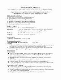 Resume Format For System Administrator Luxury Network Systems