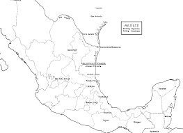 Mexico Map Coloring Page | Mexico Map