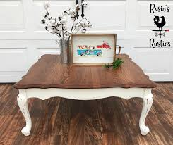 Introducing saracina home's farmhouse coffee table. Painted And Stained Rustic Farmhouse Coffee Table Coffee Table Farmhouse Coffee Table Vintage Painted Coffee Tables