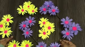 paper flower wall hanging simple