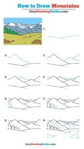 learn how to draw mountains easy step by step drawing tutorial for kids and beginners mountain drawingtutorial easydrawing see the full tutorial at