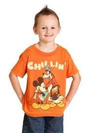 Chillin <b>Trio</b> Boys Orange Burnout T-Shirt - <b>Disney Mickey Mouse</b> ...