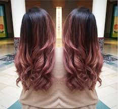 Rose ombre hair color idea with black root, so pretty~ red hair, pink