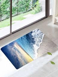 c fleece nonslip beach style bath rug colorful w16 inch l24 inch