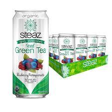 Steaz Lightly Sweetened Green Tea Steaz Organic Lightly Sweetened Iced Green Tea Blueberry Pomegranate 16 Oz Pack Of 12
