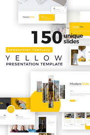 Powerpoint Backgrounds Yellow Yellow Modern Presentation Powerpoint Template