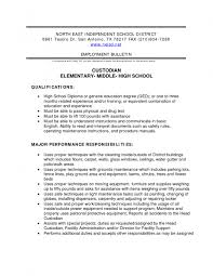 Custodian Resume Template Free Resume Templates
