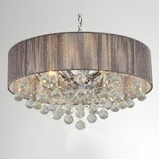 architecture drum chandelier with crystals contemporary crystal silhouette six light pendant for brilliant in 15