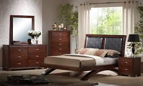 Raven Bedroom Set (Faux Leather & Dark Cherry Finish) - [RV222QB ...