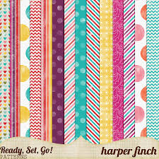 Patterned Fascinating Ready Set Go Series Patterned Papers By Harperfinch On DeviantArt