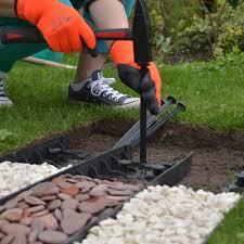 ecogrid black 60mm flexible garden edging